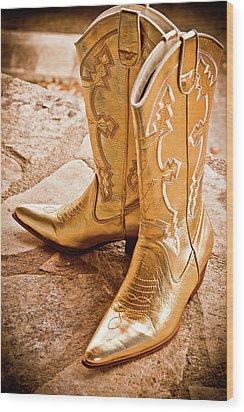 Western Wear Wood Print by Jill Smith