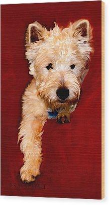 Westie Boy Wood Print