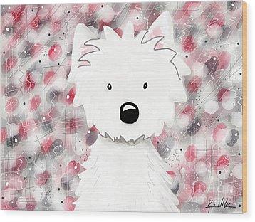 Westie Impressions II Wood Print