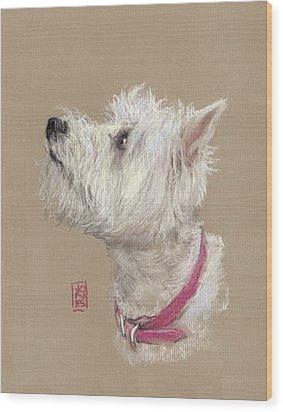 Westie Profile Wood Print by Debra Jones