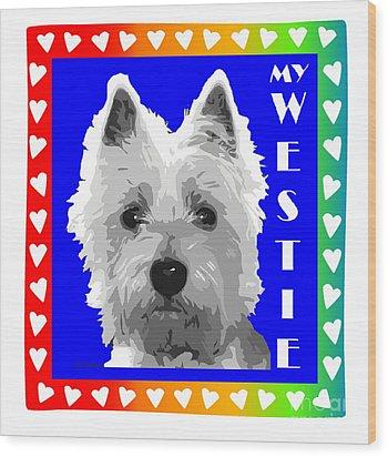 Westie Tshirt Wood Print