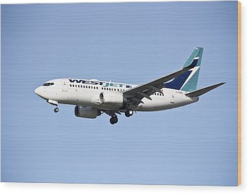 Westjet Wood Print by Nick Mares