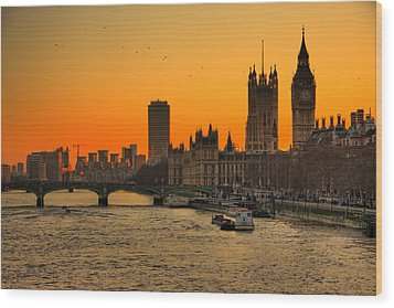 Westminster & Big Ben London Wood Print by Photos By Steve Horsley