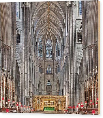 Wood Print featuring the photograph Westminster Abbey by Digital Art Cafe