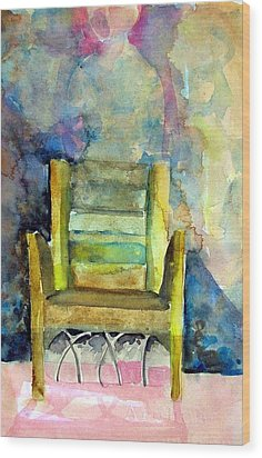 Westminster Abbey Queen Chair Wood Print by Mindy Newman