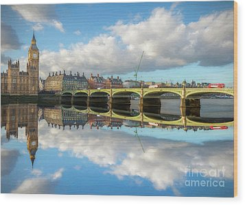 Wood Print featuring the photograph Westminster Bridge London by Adrian Evans