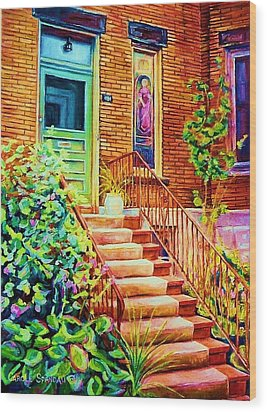 Westmount Home Wood Print by Carole Spandau