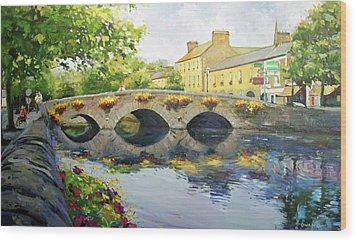 Westport Bridge County Mayo Wood Print by Conor McGuire