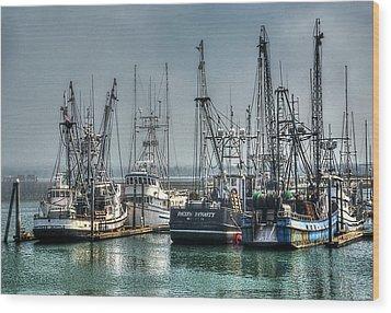 Westport Fishing Fleet - Washington Coast Wood Print by Greg Sigrist