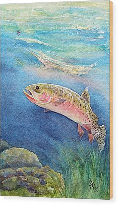 Westslope Cutthroat Wood Print by Gale Cochran-Smith