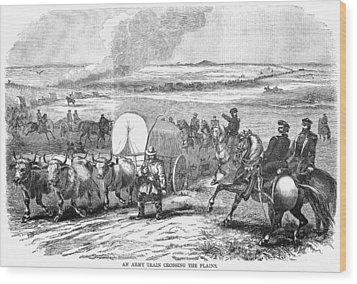 Westward Expansion, 1858 Wood Print by Granger