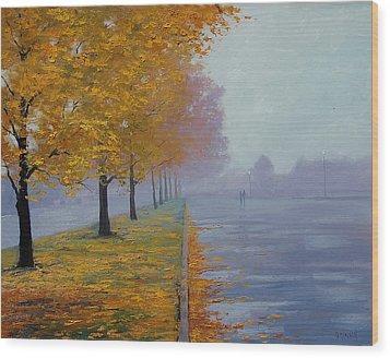 Wet Autumn Day Wood Print by Graham Gercken