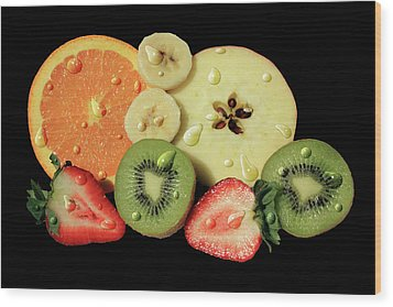 Wood Print featuring the photograph Wet Fruit by Shane Bechler