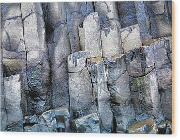 Wood Print featuring the photograph Wet Rocks 2 by Hitendra SINKAR