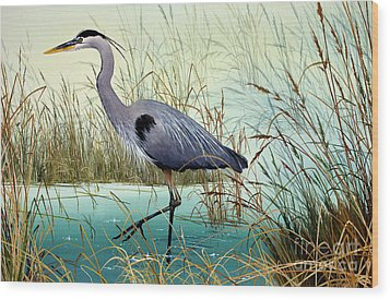 Wood Print featuring the painting Wetland Beauty by James Williamson