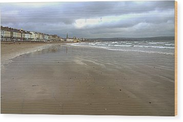 Weymouth Morning Wood Print by Anne Kotan