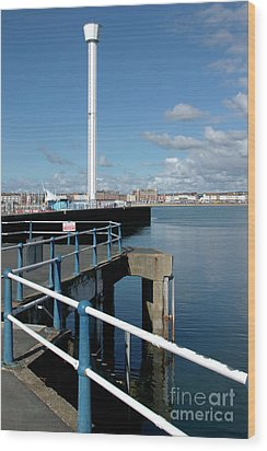 Weymouth Pavillion Pier And Tower Wood Print by Baggieoldboy