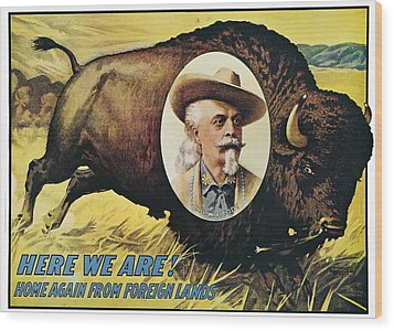 W.f.cody Poster, 1908 Wood Print by Granger