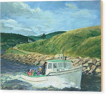 Whale Watching  Nova Scotia Wood Print by Ethel Vrana