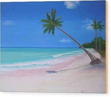 What A Beach Day Wood Print