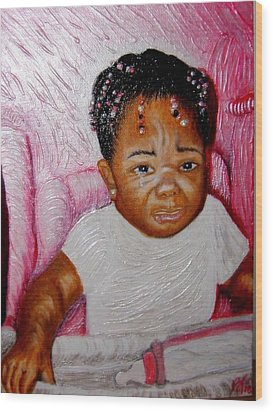 What A Blessing  Wood Print by Keenya  Woods