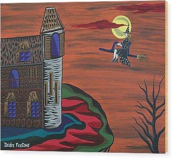 What A Wonderful Night Out Wood Print by Deidre Firestone