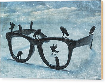 What The Crows Found Wood Print by Jeff  Gettis