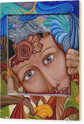 What The Mind Feels Wood Print by Karen Musick