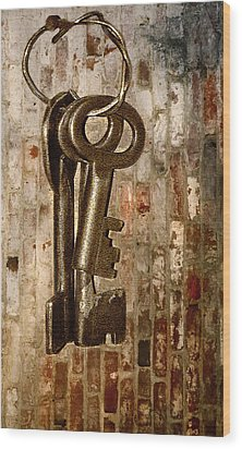 What They Unlock Wood Print by Charuhas Images