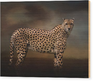 What You Imagine - Cheetah Art Wood Print by Jordan Blackstone
