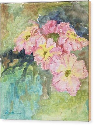 Whateva Wood Print by Anisha Bordoloi
