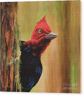Wood Print featuring the painting Whats Up? by Igor Postash