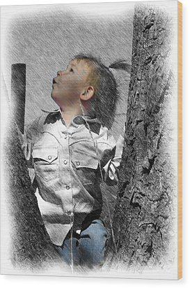 What's Up There Wood Print
