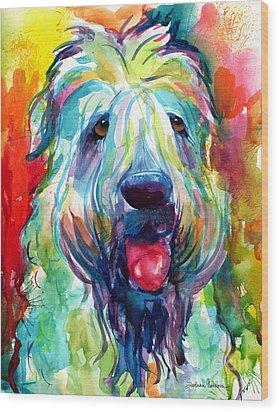 Wheaten Terrier Dog Portrait Wood Print