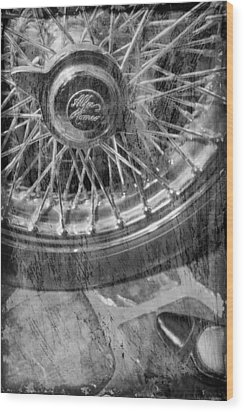 Wood Print featuring the photograph Wheel Of An Old Car. by Andrey  Godyaykin