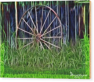 Wheel Of Fortune Wood Print by EricaMaxine  Price
