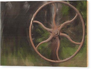 Wheel Of Life Wood Print by Davina Washington