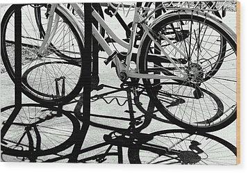 Wheels Wood Print by David Gilbert