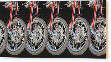 Wheels Wood Print by Jim  Hatch