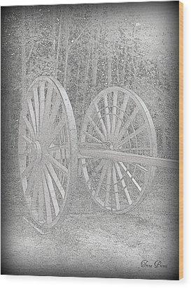 Wheels Wood Print by Trina Prenzi