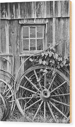 Wheels Wheels And More Wheels Wood Print by Crystal Nederman
