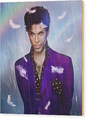 When Doves Cry Wood Print by Mal Bray