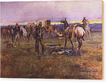 When Horses Talk Slim Chance For Truce Wood Print by Roberto Prusso