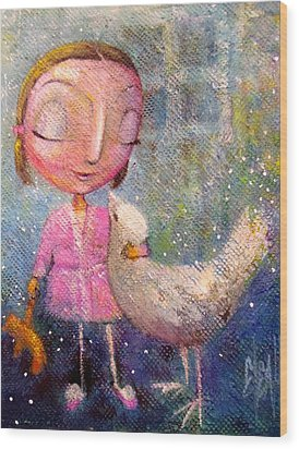 Wood Print featuring the painting When I'm With You by Eleatta Diver