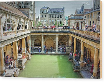 Wood Print featuring the photograph When In Rome by Wallaroo Images