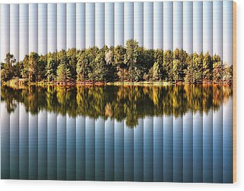When Nature Reflects - The Slat Collection Wood Print by Bill Kesler