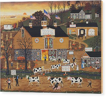 When The Cows Come Home Wood Print by Joseph Holodook