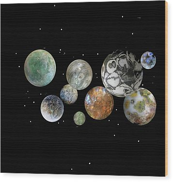 Wood Print featuring the photograph When Worlds Collide by Tony Murray
