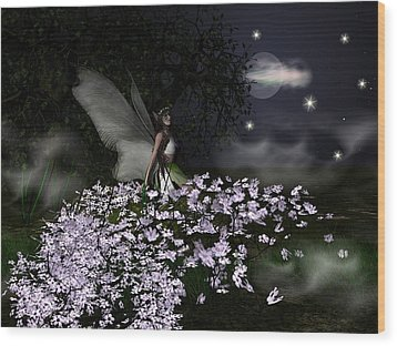 When You Wish Upon A Star Wood Print by Eva Thomas
