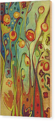 Where Does Your Garden Grow Wood Print by Jennifer Lommers